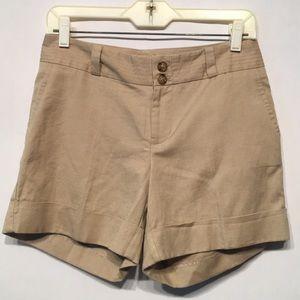 Banana Republic Linen Blend Shorts Size 2